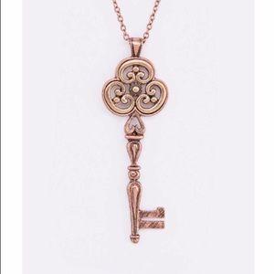Long key pendant necklace